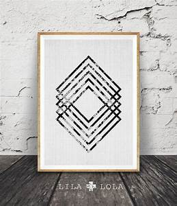 Modern minimal wall art black and white print abstract