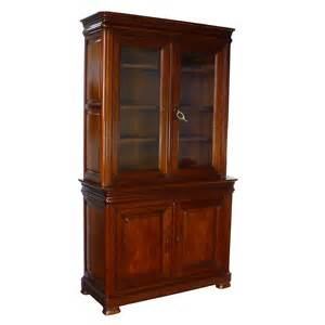 Display Bookcase by Contemporary Figaro Directoire Style Cherry Wood Bookcase