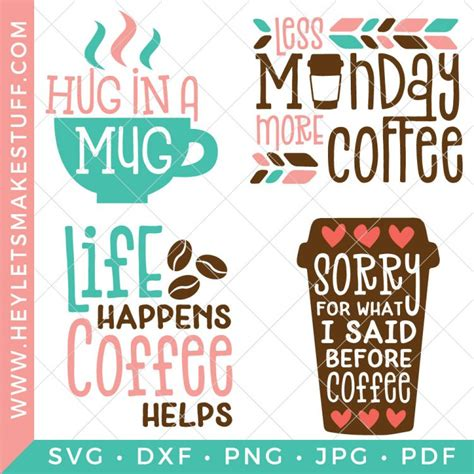 Our friends ceramic coffee mugs come in two sizes (11 oz. Funny Coffee SVG Bundle — Four Caffeinated Cut Files!