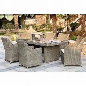 Table De Jardin Tressé : ensemble table fauteuils r sine tress e ronde 6 places ~ Dailycaller-alerts.com Idées de Décoration