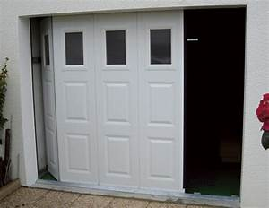 porte de garage bois coulissante brico depot isolation idees With porte de garage coulissante avec porte de service pvc brico depot