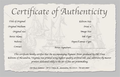 certificate  authenticity   fine art print