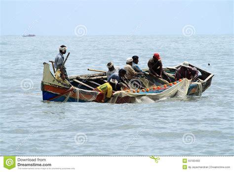 Fishing Boat Net by Fishermen Do Fishing By Using Boat And Fishing Net