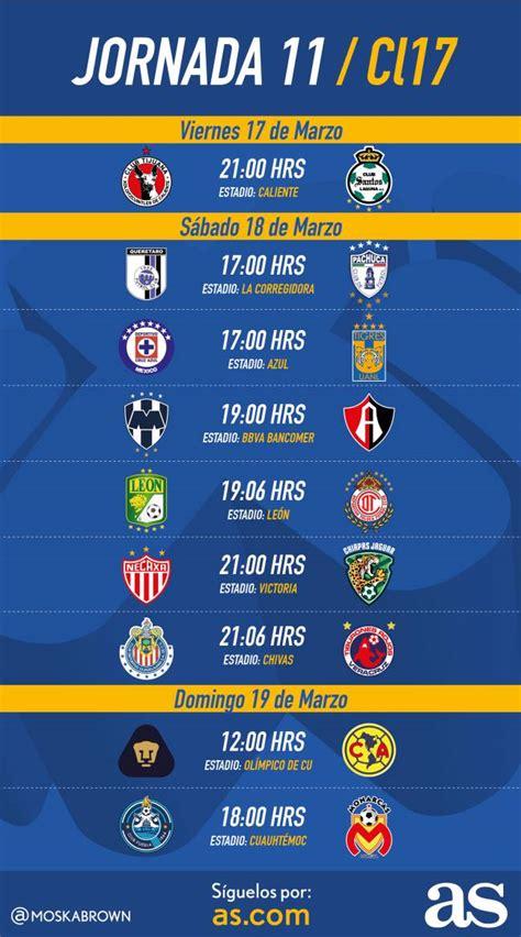 Liga MX: Fechas y horarios de la Jornada 11 del Clausura ...