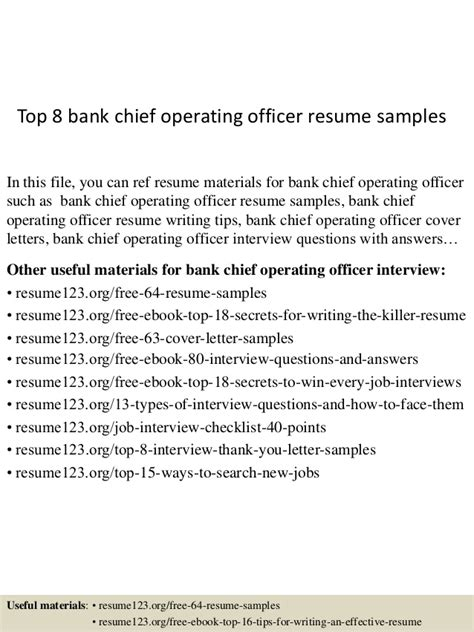 Bank Chief Operating Officer Resume top 8 bank chief operating officer resume sles