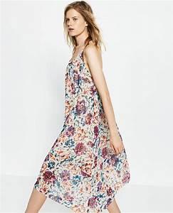 robe longue fluide zara imprime a fleurs la robe longue With robe longue fluide à fleurs