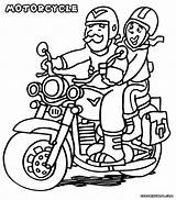 Motorcycle Coloring sketch template
