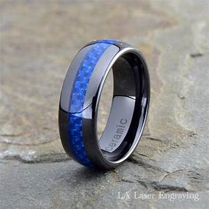 ceramic wedding band mens ring mens wedding bands With blue mens wedding rings