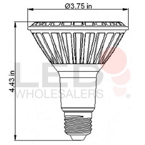standard light bulb base dimmable par30 led narrow angle spot light bulb standard