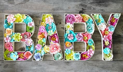 flower filled letters  cari fennell  prima paper mache letters  hobby lobby flowers