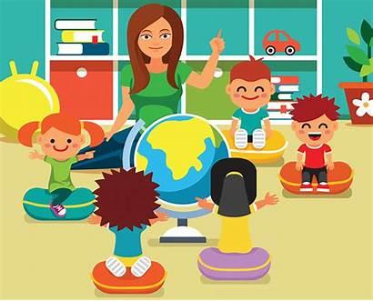 Clipart Kindergarten Class Teacher Teaching Transparent Webstockreview