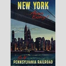 New York City  Always Exciting  Vintage Travel Poster 24x36  Nyc 36143 Ebay