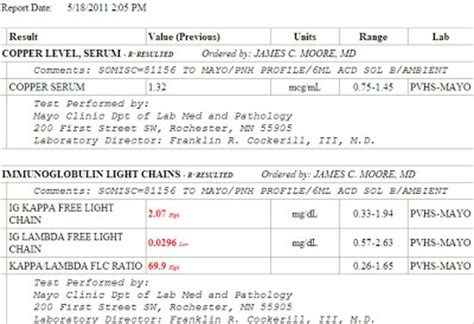 kappa free light chain high jm 39 s adventure with multiple myeloma blood test results