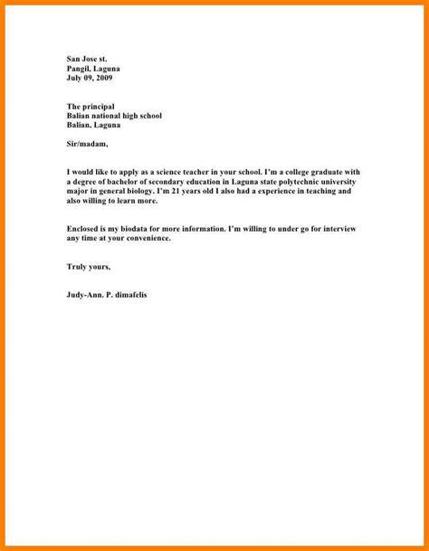 15 how write application for teaching job letter adress