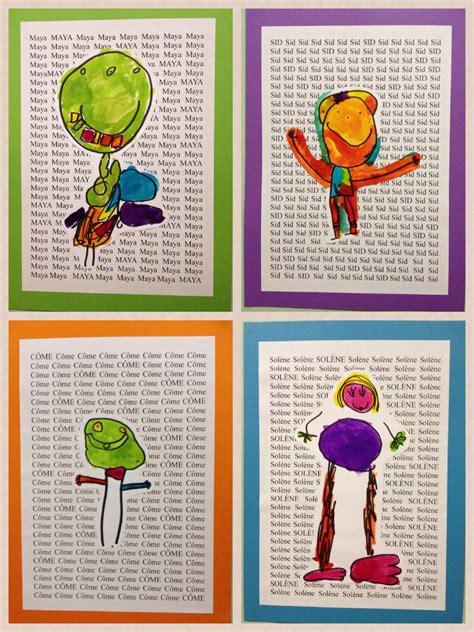 kindergarten self portraits project the name as 893 | 3f66abf5ff79a1d06b0dc982b91b4eb0
