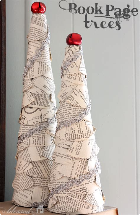 diy book page trees