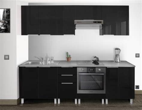 meuble hotte cuisine berlenus cp8hn meuble haut de cuisine 2 portes noir haute