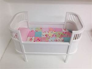 Dolls Quilt & Pillow for cradle or dolls bed -Spring