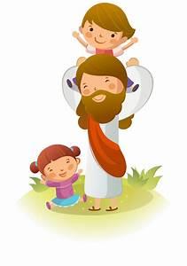 Corazones de Maria: Ilustraciones de Jesús con niños