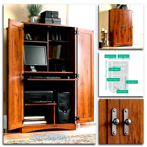 Home Office Armoire sauder computer desk storage furniture armoire home office