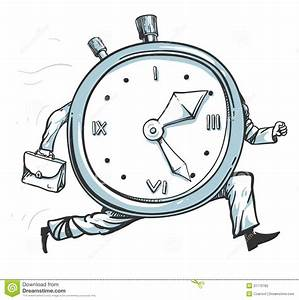 Clock running out of time stock vector. Illustration of ...
