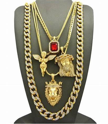 Hip Hop Jewelry Ruby Chain Iced Gold