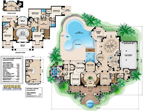 story house plans   contemporary luxury