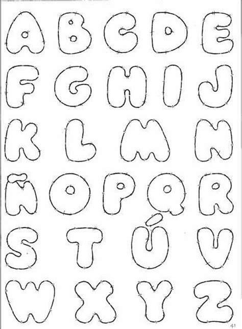 moldes de letras para fieltro imagui