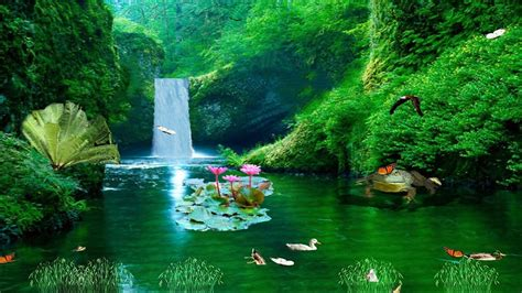 Animated Tropical Wallpaper - tropical waterfall animated wallpaper