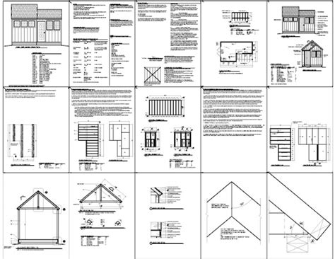8 215 10 shed plan suggestions to help you build a cave shed plans kits