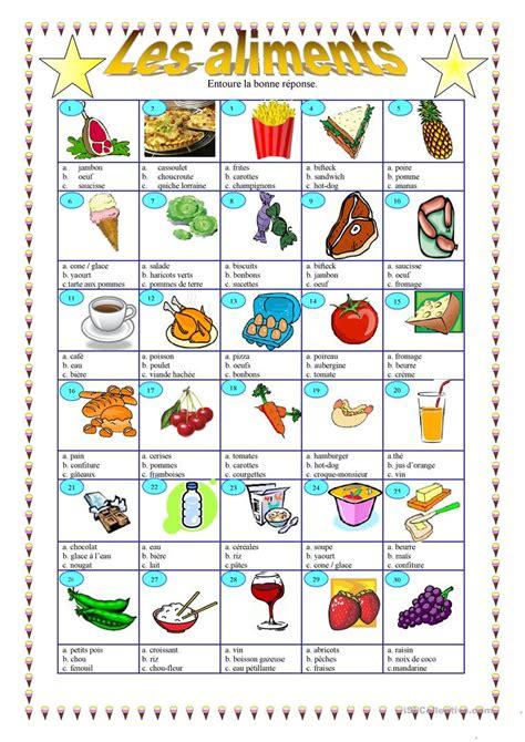 vocabulaire anglais cuisine les aliments fiche d 39 exercices fiches pédagogiques