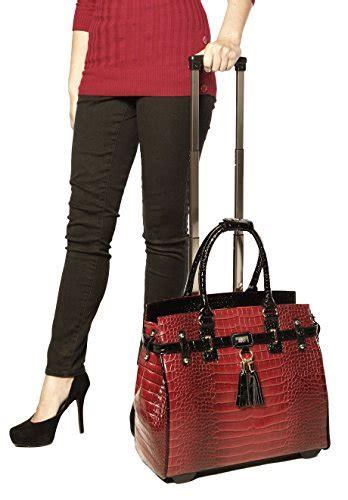 leiby tote bag with tassel wine burgundy wine tassel alligator computer laptop