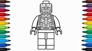 How To Draw Lego Captain America - Marvel Superheroes - Coloring Pages