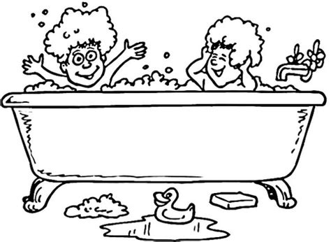 Bath Time Coloring Pages Bath And Rubber Ducks Coloring Page Supercoloring