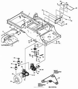 Bunton  Bobcat  Ryan 642404f Rocket 61 Side Discharge Parts Diagram For Transaxle Assy