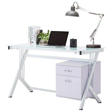 white computer desk with glass top white computer desk pc table glass top cupboard home