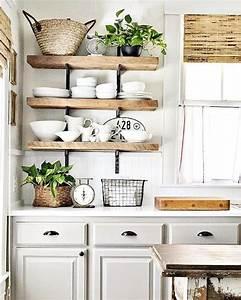 Etageres ouvertes dans la cuisine 53 idees photos for Deco etagere cuisine