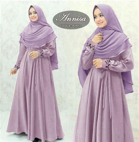 Harga Gamis Merk Annisa miftah shop supplier tangan pertama baju gamis syari