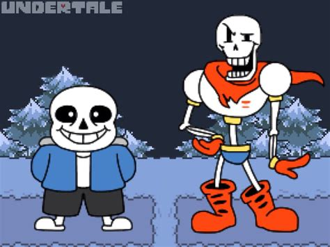 Sans And Papyrus By Lunodevan On Deviantart
