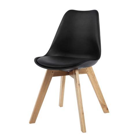 chaise scandinave noire ice maisons du monde