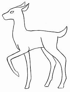 Deer base outline by ~skandranon on deviantART | Girly ...