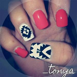 Aztec tribal nail designs #pinterest #nails #naildesigns # ...