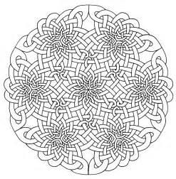 Celtic Mandala Coloring Page Adult