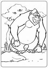 Gorilla Coloring Printable Animals Coloringoo Owl Disney Drawing Tweet Whatsapp Email Printables sketch template