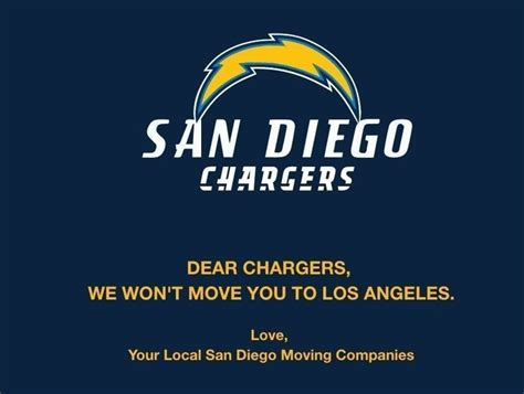San Diego Moving Companies Refuse To Help Chargers