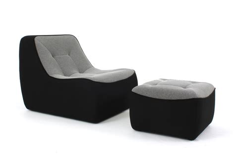 canap dunlopillo ora ito pouf tchubby by ora ito noir gris chiné passepoil noir