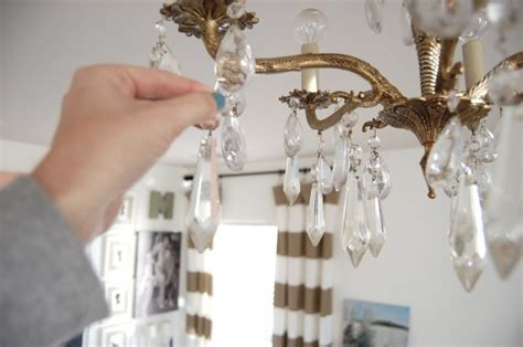 adding bling to a chandelier