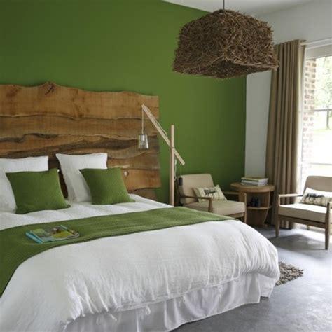 décoration chambre nature vert