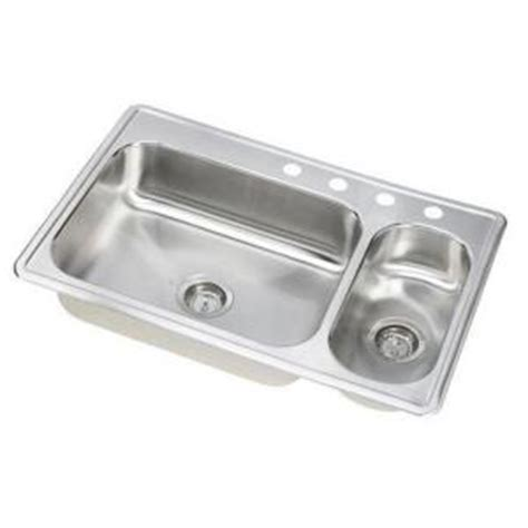 home depot kitchen sinks top mount elkay dayton elite top mount stainless steel 33x22x8 4