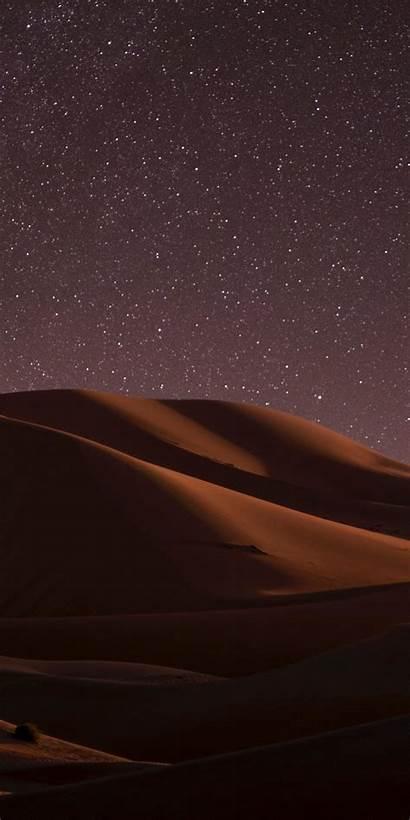 Desert Night Dunes Sky Universe Being Lock